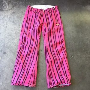 Foursquare Pink and Black Snowboarding Pants